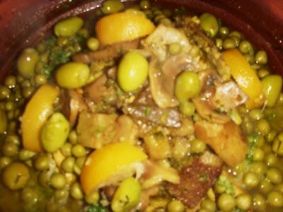 Tajine marocain aux champignons et petit-pois Tajine23
