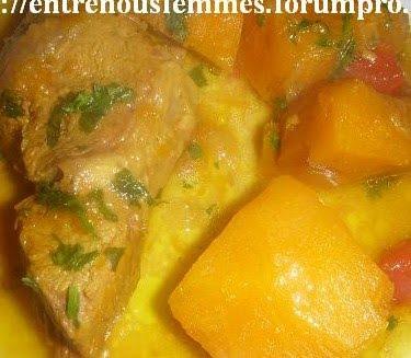 Tajine marocain de veau à la citrouille Tajine15