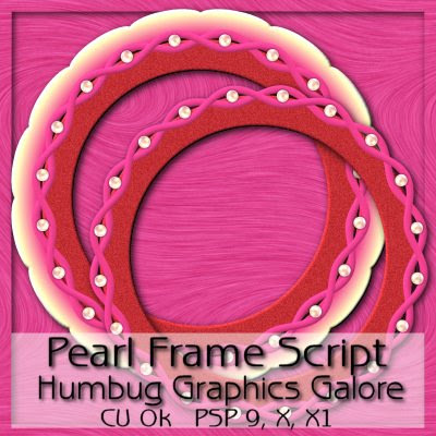 Pearl Frame Script 4 PSP (Humbug Graphics Galore) Preview
