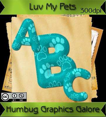 Luv My Pets - Aqua Felt Alpha (Humbug Graphics Galore) HGG_preview-alpha