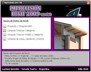 Imprecisión Revit 2009 (Ver 2.0) Inicio