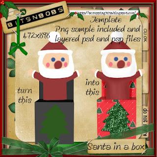 Freebie - Santa in a box template by Bits N Bobs BNB-santa-in-a-box-template-Preview