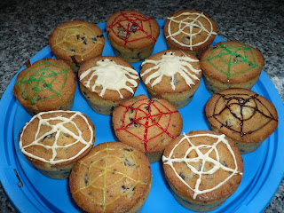 muffins et cupcakes d'halloween - Page 3 Muffins-araignees