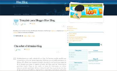 125 excelentes templates para Blogger Blue-blog