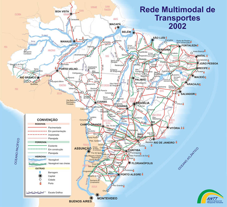 Império Brasileiro - Estados Unidos do Brasil Mapa_multimodal