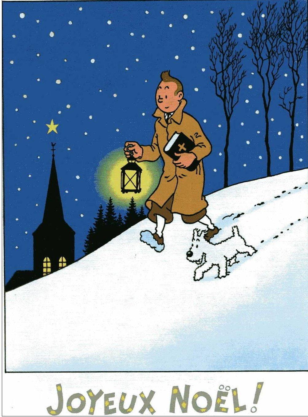 """Le Noël de Tintin, en un temps où la ferveur religieuse était plus importante que la ferveur """"acheteuse"""". Tumblr_myaf64keNT1rq3prxo1_1280"""