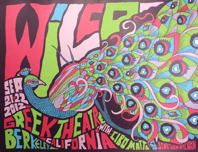 Los posters de los conciertos  Duval-Wilco-Berkeley-CA-2012