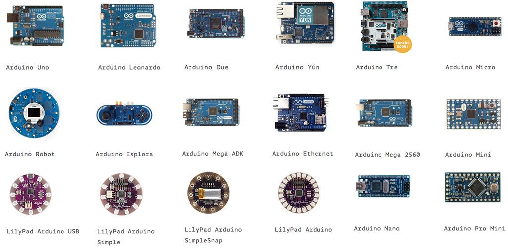 Arduino – nền tảng mới trong việc điều khiển tự động Arduino_pic_arduino_family