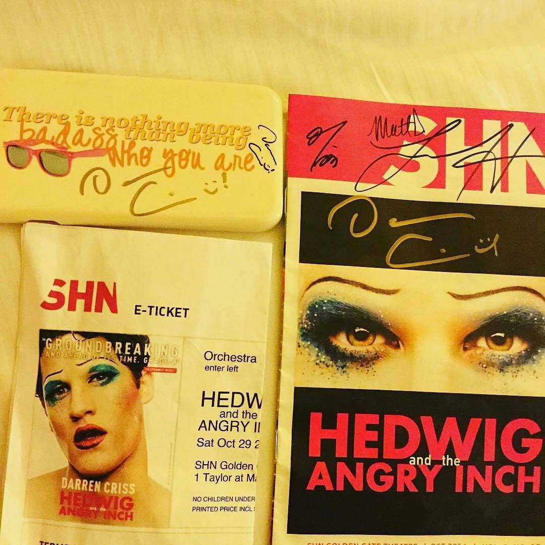 loveeachother - Fan Reviews, Media Reviews, and comments from members of the Media, about Darren in Hedwig and the Angry Inch--SF and L.A. Tour  - Page 3 Tumblr_ofulr8Edaf1ubd9qxo1_1280