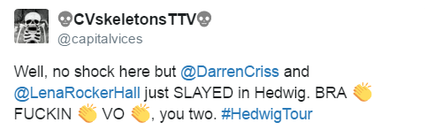 broadwaymusical - Fan Reviews, Media Reviews, and comments from members of the Media, about Darren in Hedwig and the Angry Inch--SF and L.A. Tour  Tumblr_oeohs9dcFT1uetdyxo2_500