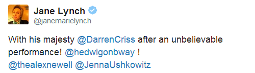 badapplesinthebigapple - Who saw Darren in Hedwig and the Angry Inch on Broadway? Tumblr_npu5yrPk1S1qbqtkso2_r1_500
