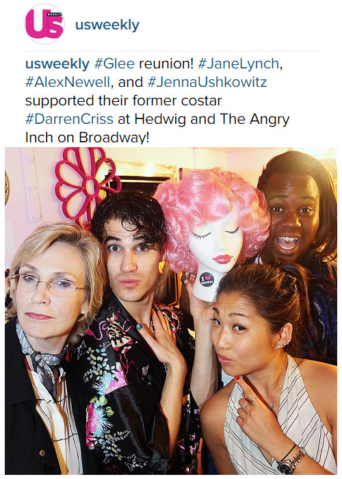 badapplesinthebigapple - Who saw Darren in Hedwig and the Angry Inch on Broadway? Tumblr_npswinrfgW1r4gxc3o2_500