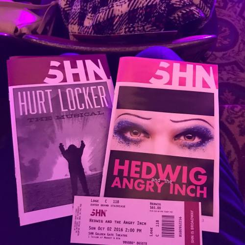 "LiftUpYourHands - Pics, gifs, media videos, curtain call videos, stage door videos, and posts of ""who saw Darren"" in Hedwig and the Angry Inch--SF and L.A. (Tour),  Tumblr_oeftsrQauA1uetdyxo1_500"