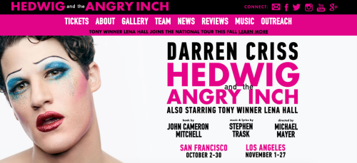 HedwigTour - The Hedwig and the Angry Inch Tour in SF and L.A. (Promotion, Pre-Performances & Miscellaneous Information) Tumblr_o7qzklt0jK1uetdyxo1_500
