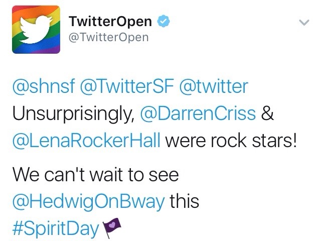 "versace - Pics, gifs, media videos, curtain call videos, stage door videos, and posts of ""who saw Darren"" in Hedwig and the Angry Inch--SF and L.A. (Tour),  - Page 4 Tumblr_ofdamq4EqD1ubd9qxo1_1280"