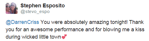 Rainbow - Fan Comments and Reviews, and Comments from others, who saw Darren in Hedwig and the Angry Inch on Broadway  Tumblr_nnjq80o6Gu1uo6446o9_r1_500