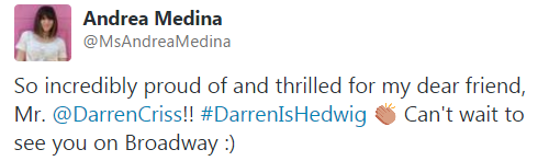 hedwig - Pics and gifs of Darren in Hedwig and the Angry Inch on Broadway. Tumblr_njyaha3Ke81r4gxc3o6_500