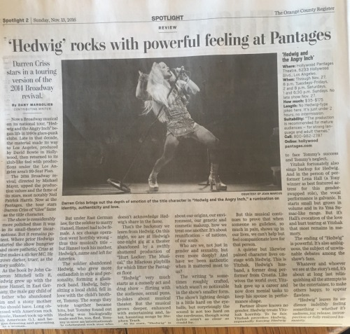 absolutlyfabulous - Fan Reviews, Media Reviews, and comments from members of the Media, about Darren in Hedwig and the Angry Inch--SF and L.A. Tour  - Page 6 Tumblr_ogld5sJ35z1rhtxzao1_500