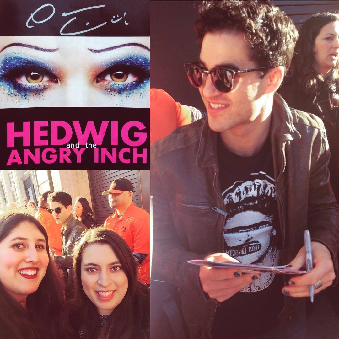 "HedwigAndTheAngryInch - Pics, gifs, media videos, curtain call videos, stage door videos, and posts of ""who saw Darren"" in Hedwig and the Angry Inch--SF and L.A. (Tour),  Tumblr_oeg61xIW3A1uetdyxo1_1280"
