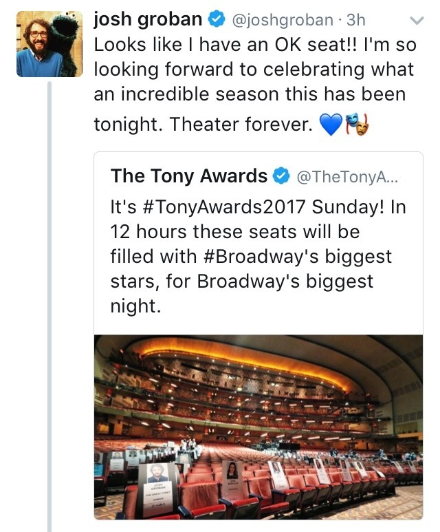 TonyAwards2017 - Darren's Miscellaneous Projects and Events for 2017 - Page 2 Tumblr_ore9s6wQeG1ubd9qxo1_1280