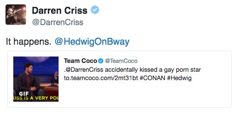 darrenishedwig - Pics and gifs of Darren in Hedwig and the Angry Inch on Broadway. - Page 2 Tumblr_omvjqzpf9U1uetdyxo1_500