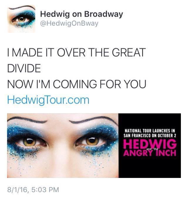 broadway - The Hedwig and the Angry Inch Tour in SF and L.A. (Promotion, Pre-Performances & Miscellaneous Information) - Page 2 Tumblr_ob919mPaEW1ubd9qxo1_1280