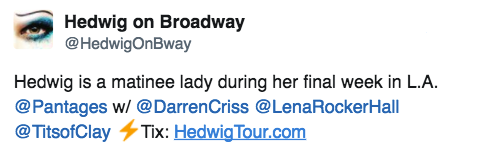Theatre - The Hedwig and the Angry Inch Tour in SF and L.A. (Promotion, Pre-Performances & Miscellaneous Information) - Page 7 Tumblr_oh2ent8FVb1uetdyxo1_r2_500