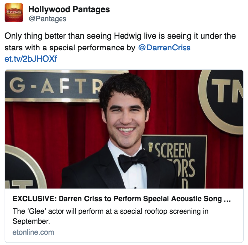 Darren Appreciation Thread: General News about Darren for 2016  - Page 10 Tumblr_ocscyf0qoj1uetdyxo1_500