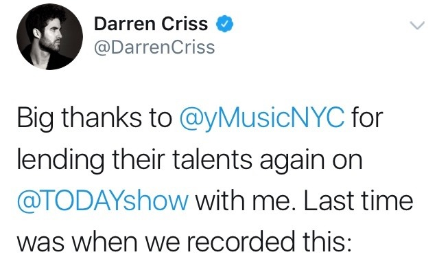 Topics tagged under elsiefest2017 on Darren Criss Fan Community Tumblr_ou2ar1zVJe1ubd9qxo1_1280