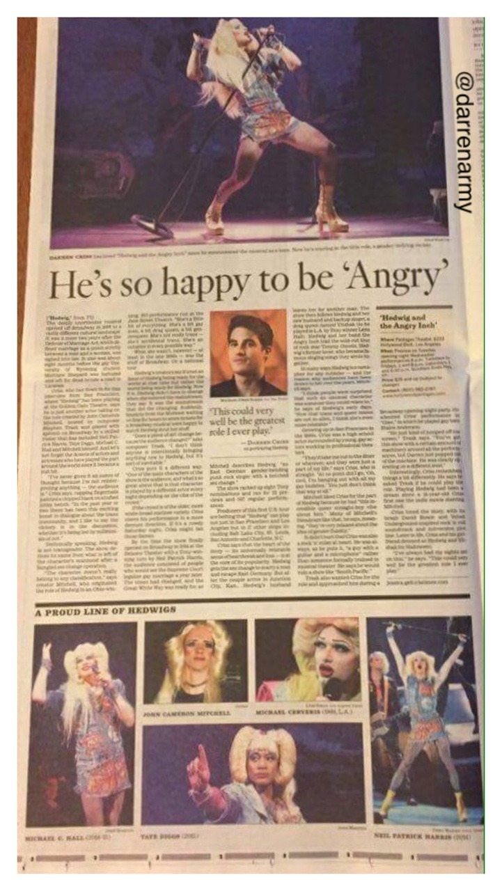 lenahall - The Hedwig and the Angry Inch Tour in SF and L.A. (Promotion, Pre-Performances & Miscellaneous Information) - Page 6 Tumblr_ofvexoP9bu1ubd9qxo2_1280