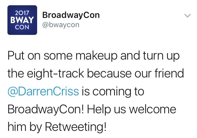 Topics tagged under broadwaycon on Darren Criss Fan Community Tumblr_oi6qvfutle1ubd9qxo1_1280