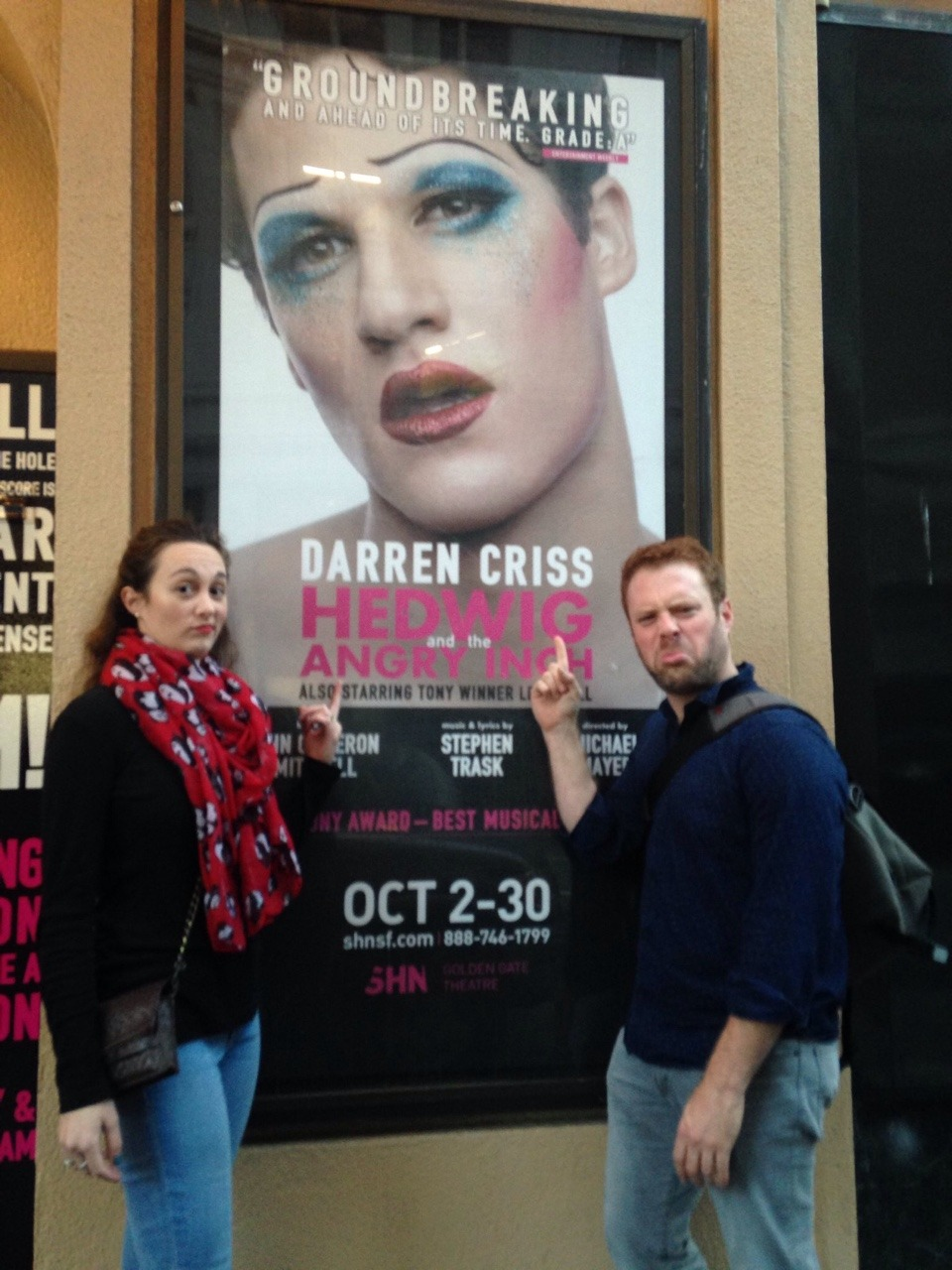 "DarrenIsHedwig - Pics, gifs, media videos, curtain call videos, stage door videos, and posts of ""who saw Darren"" in Hedwig and the Angry Inch--SF and L.A. (Tour),  - Page 4 Tumblr_ofppzbvbRe1ubd9qxo1_1280"