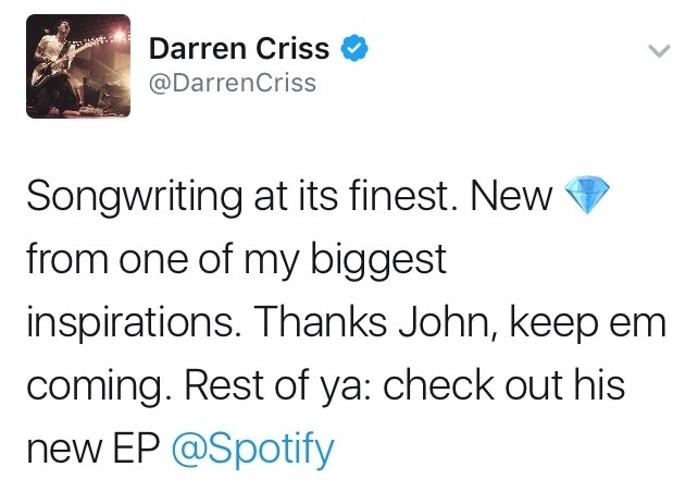 thankyouforthemusic - Darren Appreciation Thread: General News about Darren for 2017 - Page 3 Tumblr_oke45rpLwu1ubd9qxo1_1280
