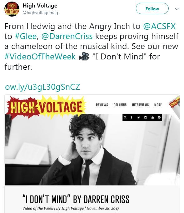 Topics tagged under highvoltage on Darren Criss Fan Community Tumblr_p05hja2ylf1ubd9qxo1_1280