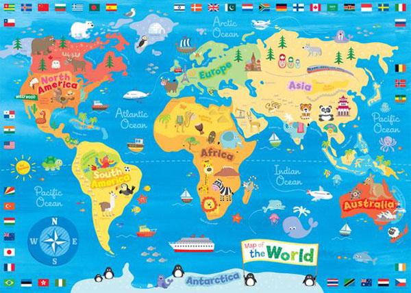 خرائط مجنونة لعالمنا المجنون وكما يقولون الجنون فنون World_Map-cute