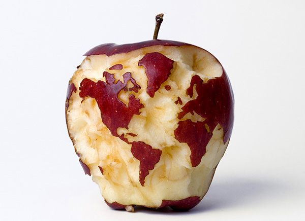 خرائط مجنونة لعالمنا المجنون وكما يقولون الجنون فنون Appleglobeweb