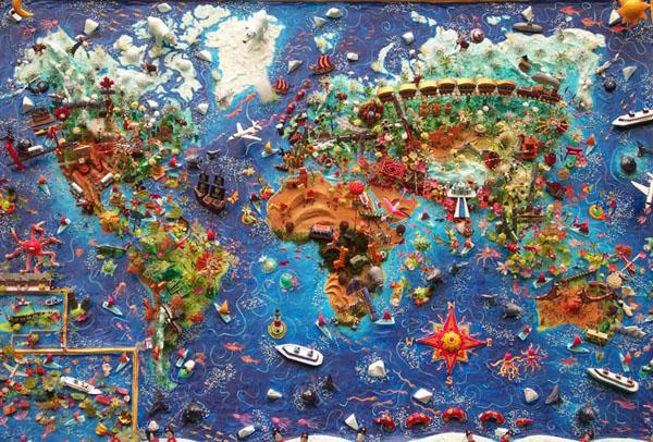 خرائط مجنونة لعالمنا المجنون وكما يقولون الجنون فنون Caribbean-map