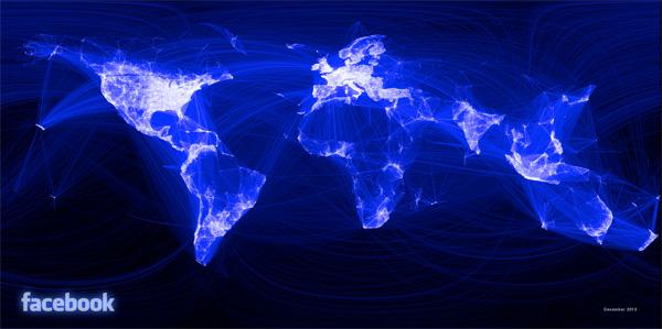 خرائط مجنونة لعالمنا المجنون وكما يقولون الجنون فنون Facebook-world-map