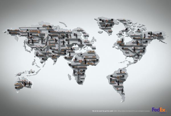 خرائط مجنونة لعالمنا المجنون وكما يقولون الجنون فنون Fedex-map