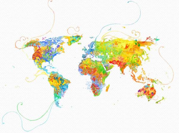 خرائط مجنونة لعالمنا المجنون وكما يقولون الجنون فنون Mapartistic1