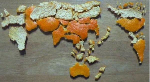 خرائط مجنونة لعالمنا المجنون وكما يقولون الجنون فنون Peel-that-tangerine