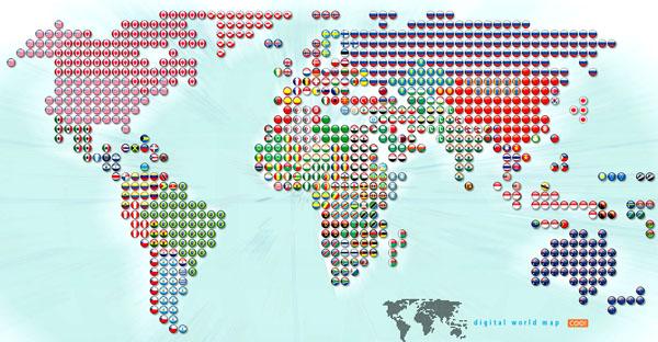 خرائط مجنونة لعالمنا المجنون وكما يقولون الجنون فنون World_flags_inside_candies
