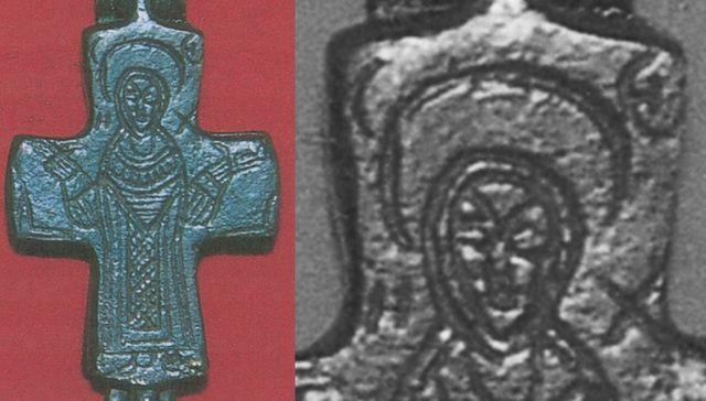 ENCOLPIO bizantino. S. X. ( F.S.V. CR-01) Hx1copy