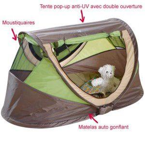 Lit bébé camping en promo chez Intermarché 128645