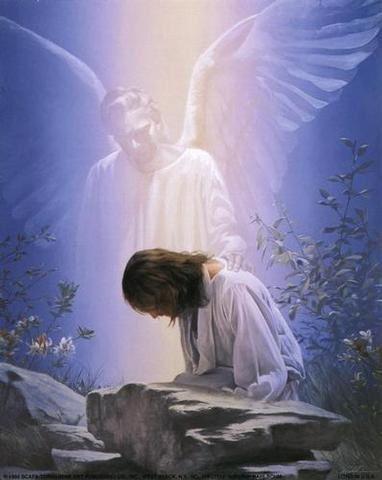 Ange ! mon ange!... es tu là?... 1.Jesus-et-l-ange