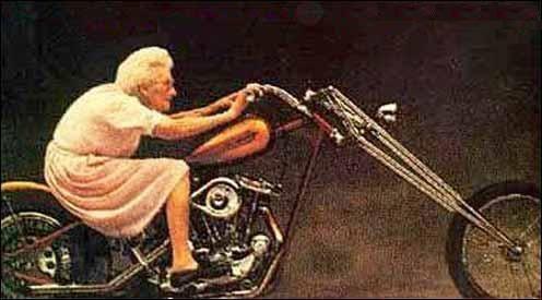 Bon anniversaire kawa Mamie-moto