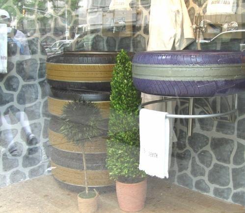 Que faire avec des vieux pneus Lavabo-en-pneus-new-york