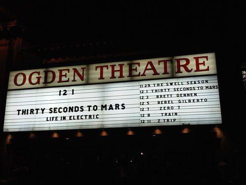 Jared Leto's Tour Diary Denver2dec2009