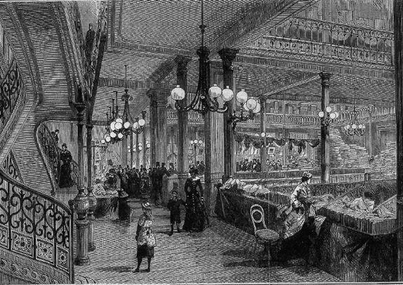 Au Bonheur des Dames : chap. 1 à 8. 1880-Au-Bon-March-
