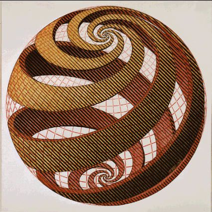 La spirale, mouvement de vie. Sph--re-spirale
